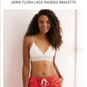 NWT Aerie Flora Lace Padded Bralette